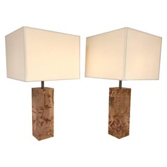 Pair of Lamps Fractal Resin, France, 1970s