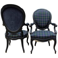 Pair of Louis Philippe Bergere Chairs