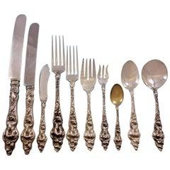 Les Six Fleurs by R&B Sterling Silver Flatware Set 12 Service 125 Pcs Dinner