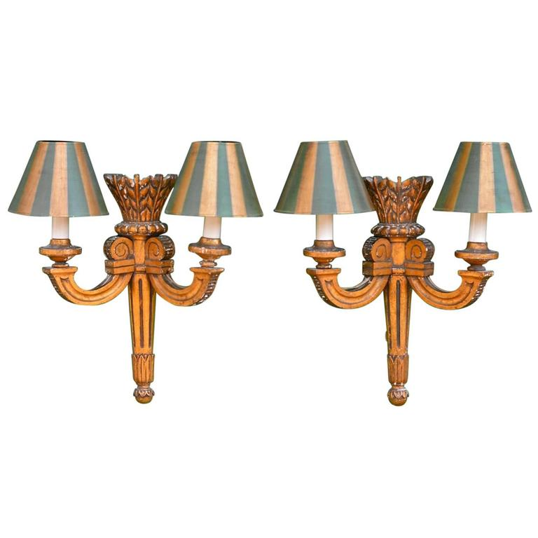 19th Century French Giltwood Sconces For Sale