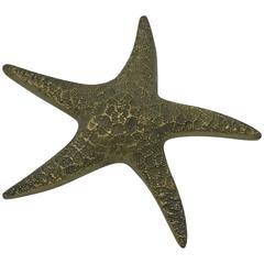 1960s Brass Starfish Sculpture