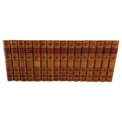 Set of Leather Bound Novels by Sir Walter Scott