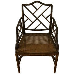 1960s Faux Bamboo Chinese Chippendale Chair