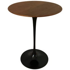 1950s Knoll Tulip Side Table with Dark Walnut Top