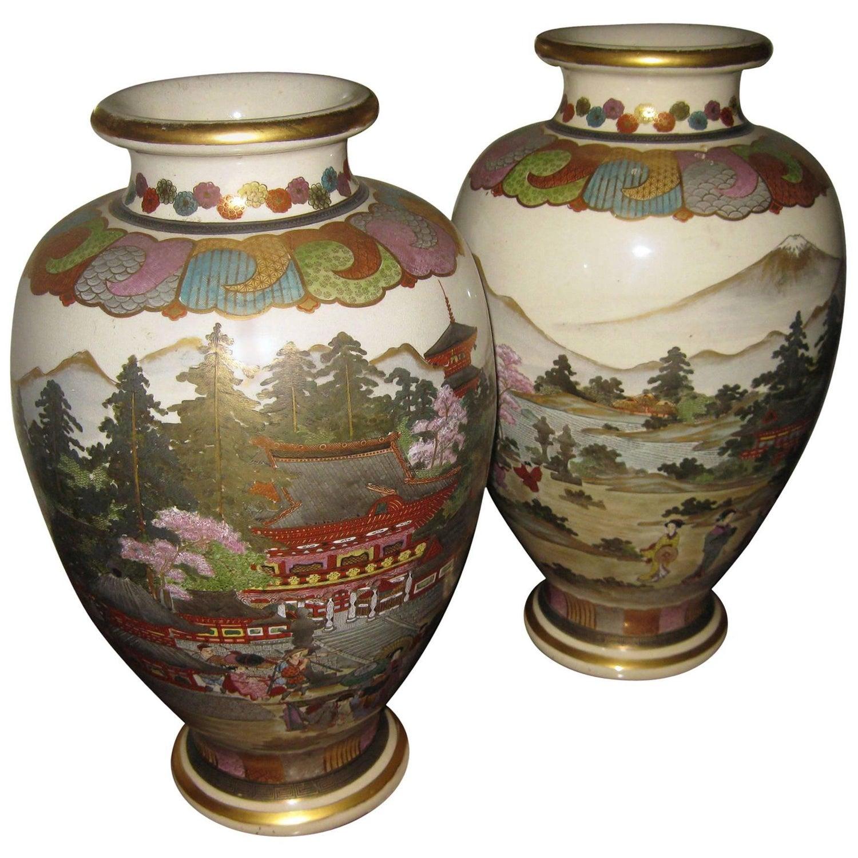 20th century japanese satsuma vase pair for sale at 1stdibs reviewsmspy