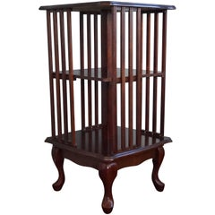 Stylish and Practical Mahogany Queen Anne Style Revolving Bookcase