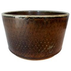 Signed Carl Harry Stalhane Rörstrand Scandinavian Pottery Bowl, Midcentury
