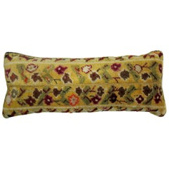 Bolster Pillow Made from a Turkish Ghiordes Rug