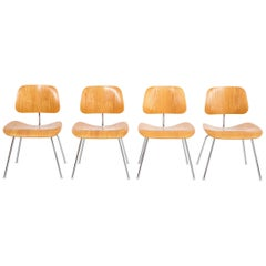 Set of Four Mid-Century Modern Eames Dining Chairs for Herman Miller