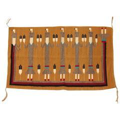 Vintage Yei Woven Navajo Rug