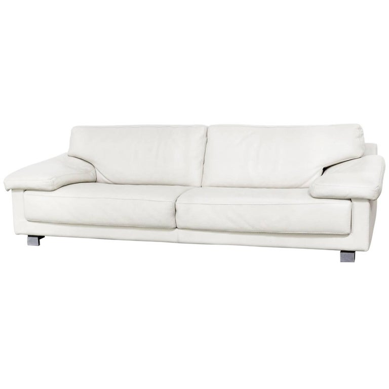 Roche Bobois Leather Sofa For Sale at 1stdibs