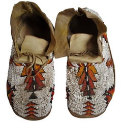 Pair of Plains Indians Moccasins, USA, Early 20th Century