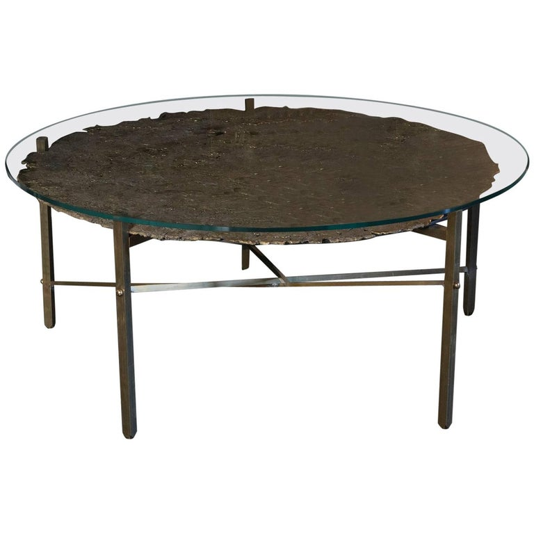 Round Brass Coffee Table 1980 At 1stdibs