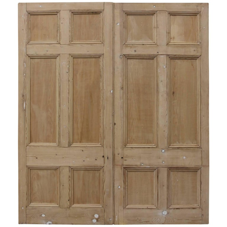 Pair of Victorian Stripped Pine Room Dividers
