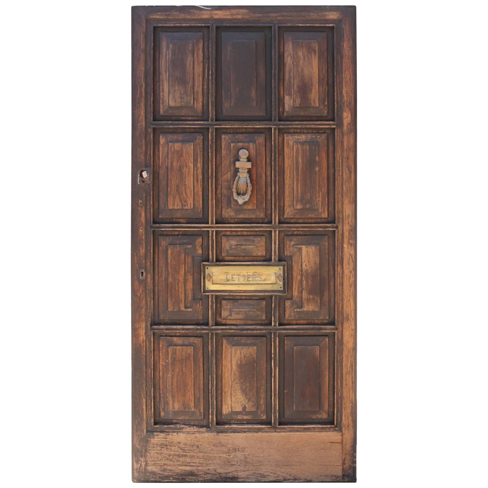 Reclaimed Mahogany Front Door For Sale