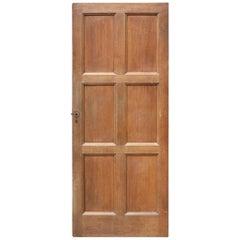 Five Oak Six-Panel Doors, circa 1900