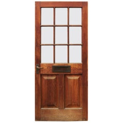 Early 20th Century Glazed Oak Front Door