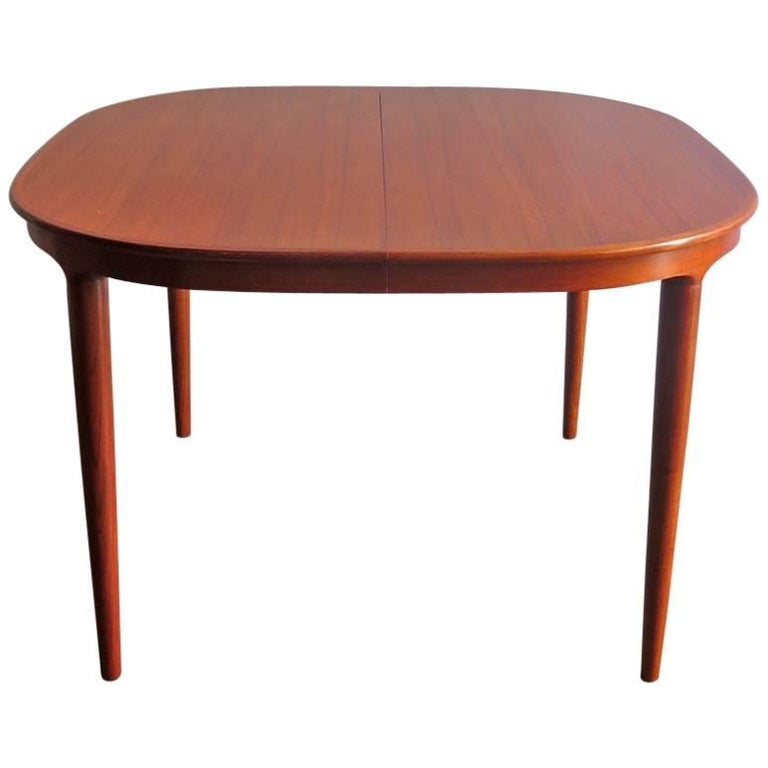 Elegant Teak Dinning Table with Two Extensions Leafs by  : 8066083master from www.1stdibs.com size 768 x 768 jpeg 29kB