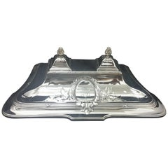 Judgenstil Silver Plate German Inkstand, circa 1900