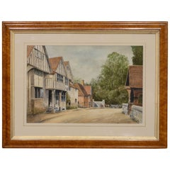 19th Century Watercolor 'The Olde Tigers Head'