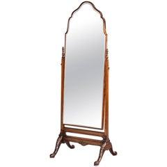 Early 20th Century Mahogany Framed Cheval Mirror