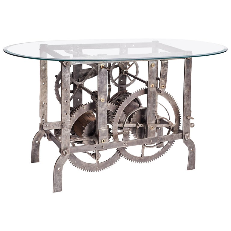 18th Century Italian Church Tower Turret Clock Coffee Table For Sale
