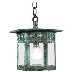 Arts & Crafts Verdigris Lantern
