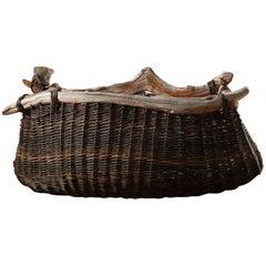 Handmade Decorative Bog Wood Vessel Basket by Joe Hogan the New Craftsmen