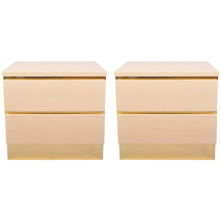 1960s Italian Cream Nightstands