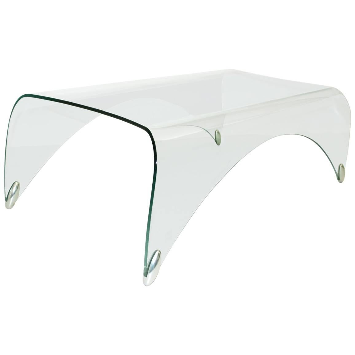 Glass Vintage Coffee Table by Massimo Iosa Ghini, 20th Century