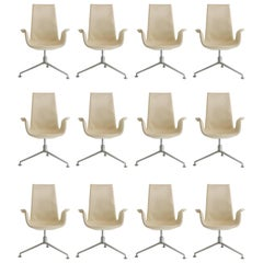 Set of 12 Fabricius & Kastholm Tulip Chairs Cream
