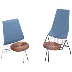 Rare Set of Tony Paul Male and Female Lounge Chairs, USA, 1950s