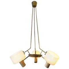 Italian Mid-Century Brass Pendant Light