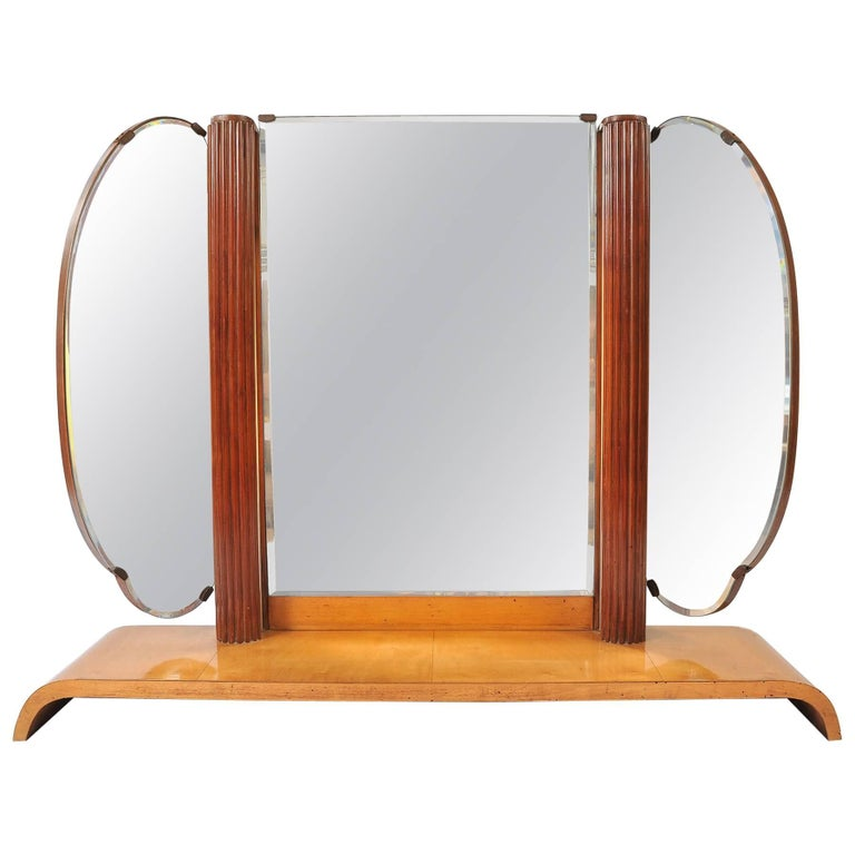 1920s italian extra large triptych mirror or light at 1stdibs for Extra large mirrors