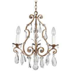 1950s Three-Light French Chandelier