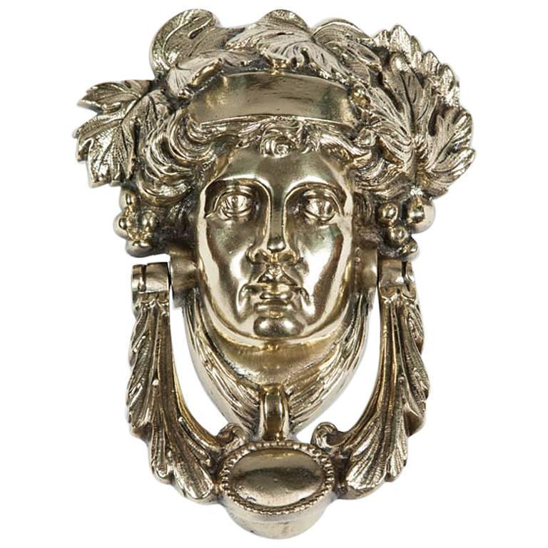 Victorian Brass Door Knocker Depicting Pomona 1