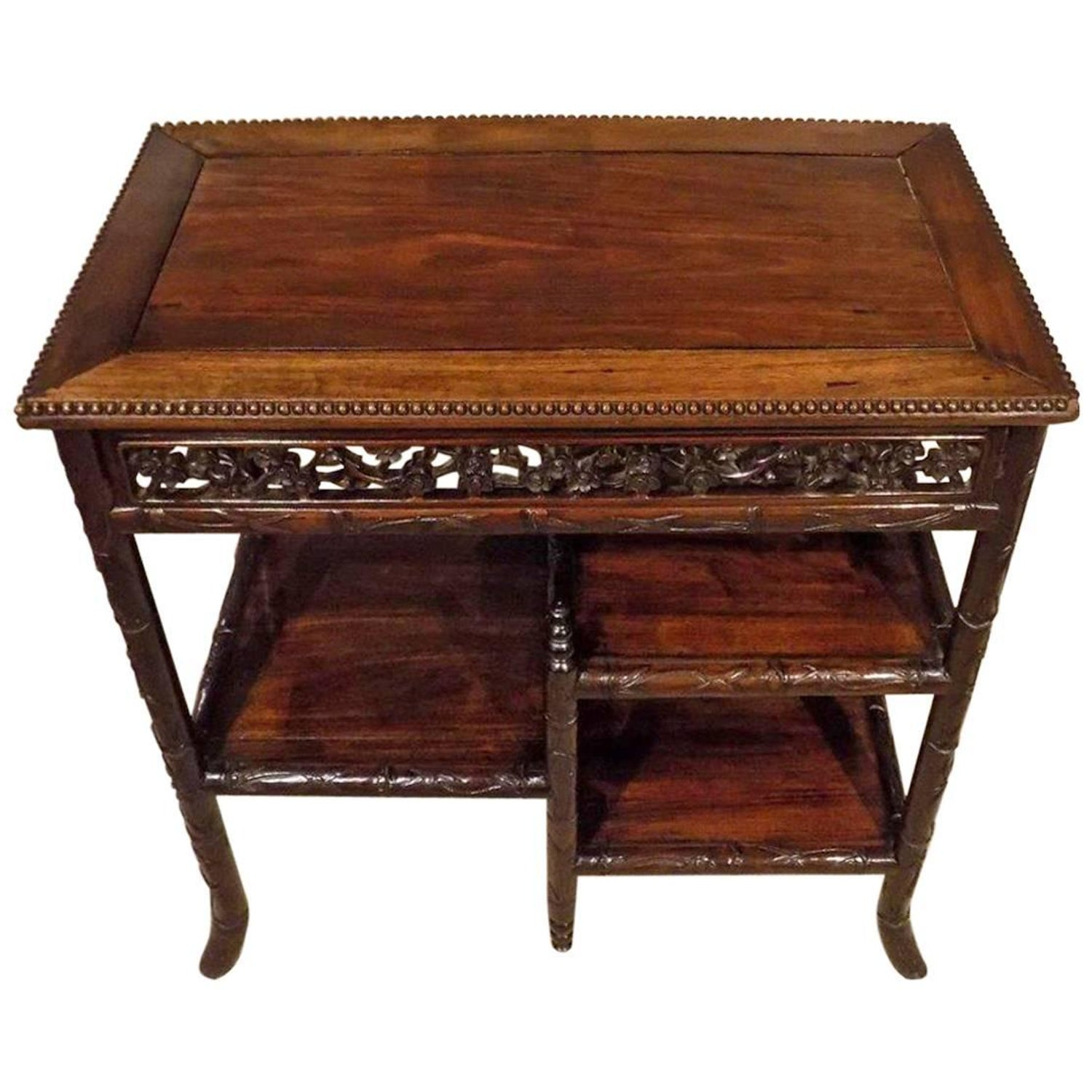 19th Century Chinese Chippendale Fretwork Side Table at 1stdibs