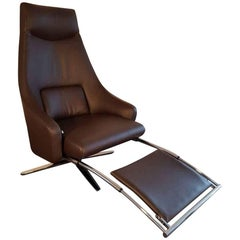 "Armchair ""Cane"" by Manufacturer IP Design with 100% Genuine Leather and Steel"