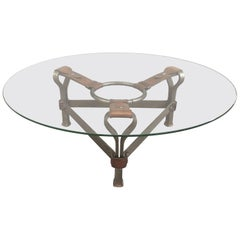 Chic Coffee Table Attributed to Jacques Adnet
