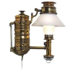 Very Rare 1800s Adams & Westlake Railroad Dining Car Oil Lamp