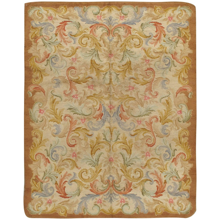 Antique French Savonnerie Rug, circa 1900