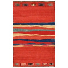 Vintage Northwest Persian Kilim with Abstract Pattern