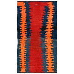 Vintage Northwest Persian Kilim with Flame Design