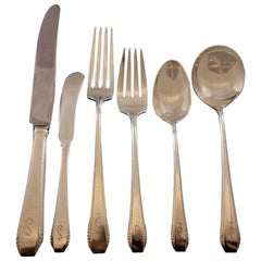 Cascade by Towle Sterling Silver Flatware Set for 12 Service 80 Pcs S Monogram