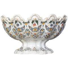 Very Large Bassano Floral Centerpiece Bowl