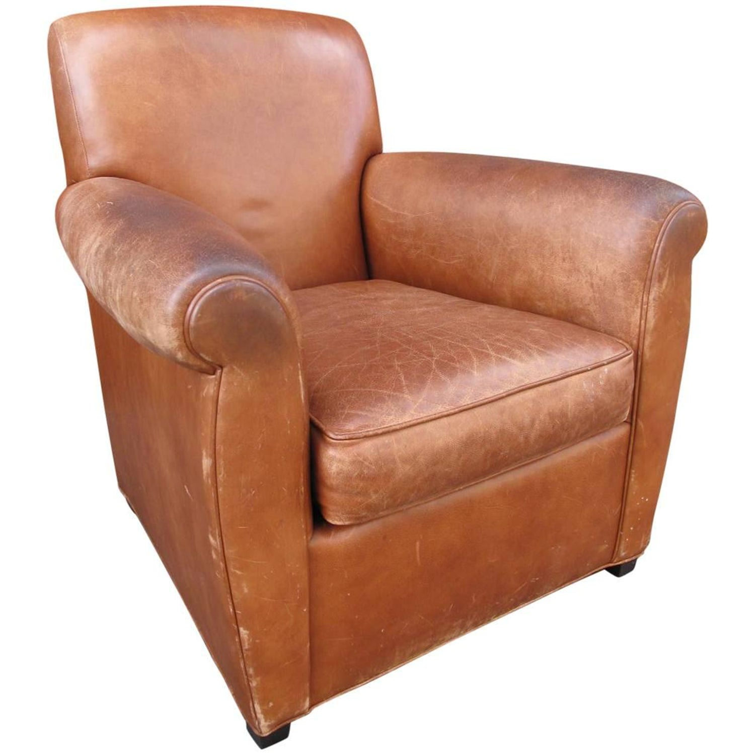Coach for Baker Leather Club Chair at 1stdibs