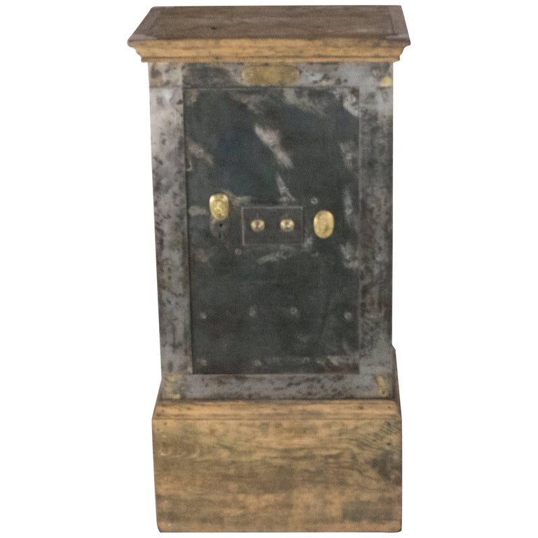 French Steel Safe by H. Dorval For Sale