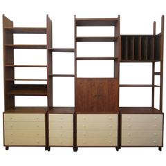 Hardwood House Wall or Room-Divider Shelving System