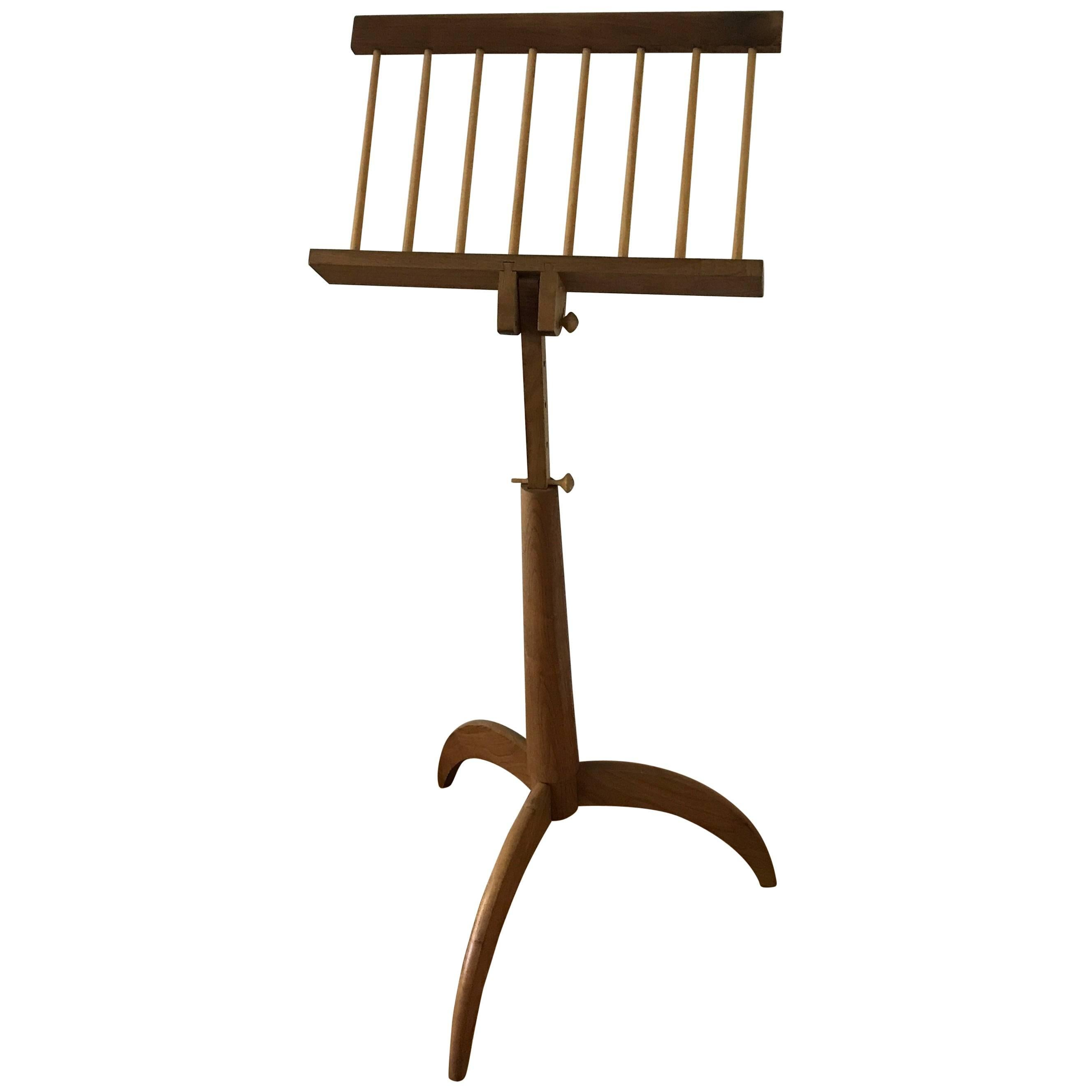 1960s George Nakashima Style American Craft Artisan Music Stand By Tom  Dumke For Sale