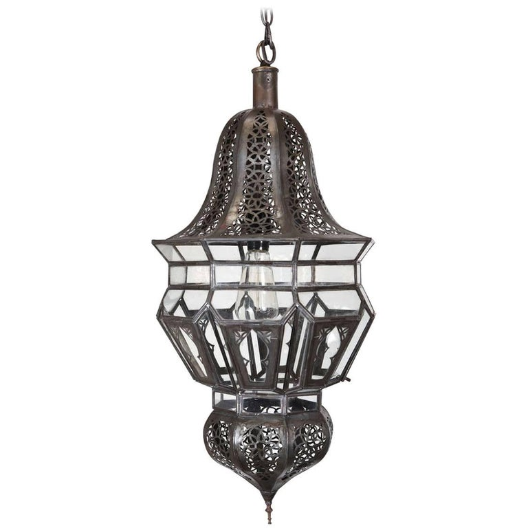 Moroccan Moorish Hanging Pendant Light For Sale